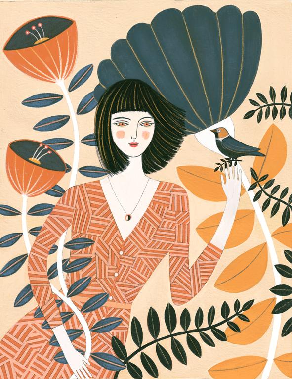 Vrouw en vogel